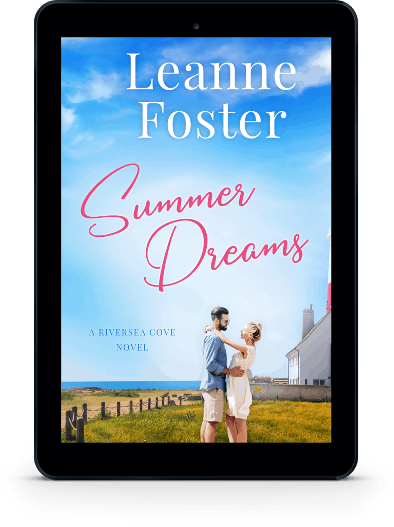 Tablet version of a premade romance cover made by Romance Cover Designs