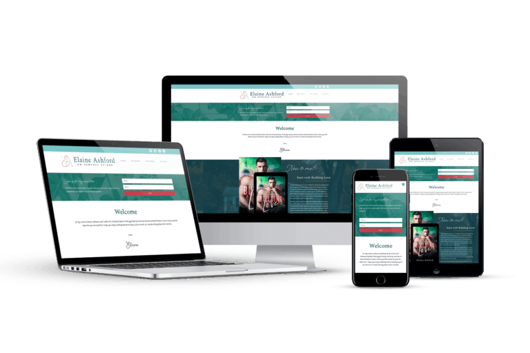 Photo collage of a responsive website