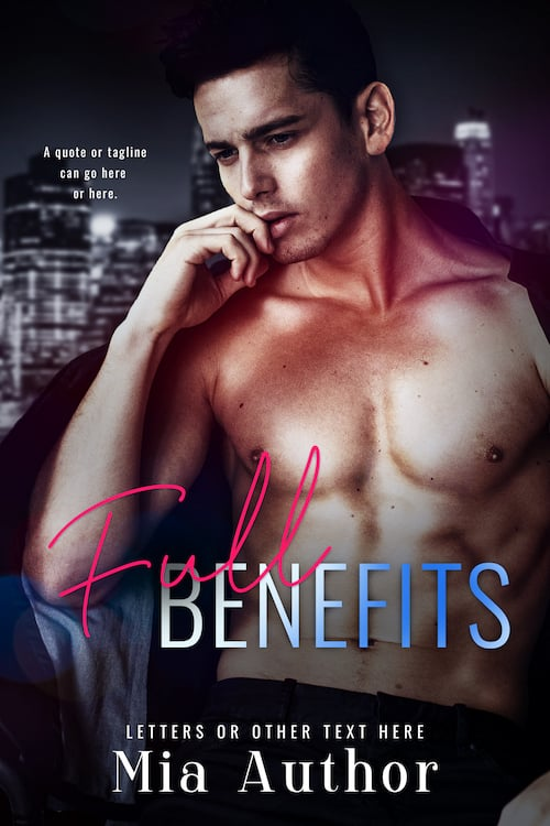 Billionaire Romance Premade Cover titled Full Benefits made by Romance Cover Designs
